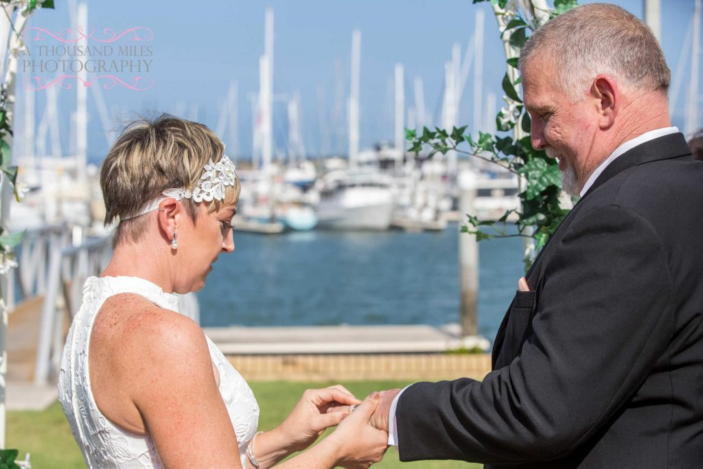 moreton bay trailer boat club wedding photography